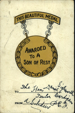 This Beautiful Medal Awarded To A Son Of Rest