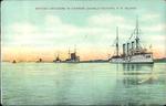 British Cruisers in Harbor, Charlottetown, P.E.Island