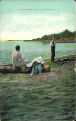 """A Morning Dip"", P.E.Island."