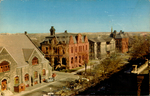 View Showing Market Building, Old Post Office, Provincial Building, Court House, Charlottetown, P.E.I.