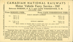 Canadian National Railways Motor Vehicle Ferry Service - 1947