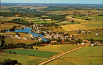 Aerial view of Hunter River, one of the many picturesque villages you see in Prince Edward Island, Canada.