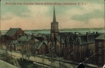 Bird's Eye View East River Showing Hillsboro Bridge, Charlottetown, P.E.I.