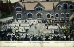 """Closing Public Schools"". 1200 Children Present, Market Square. Charlottetown, P.E.I."